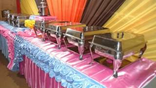 Backdrop & Buffet Set Up by Bjorns Catering