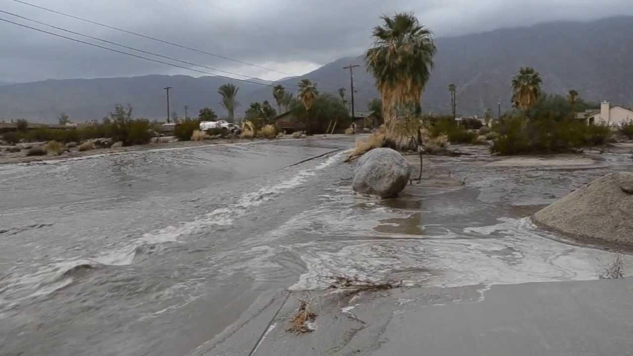 Borrego Flash Flood Street Flow 082513 YouTube
