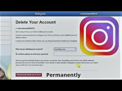 How to delete instagram account permanently youtube how to delete instagram account permanently ccuart Choice Image