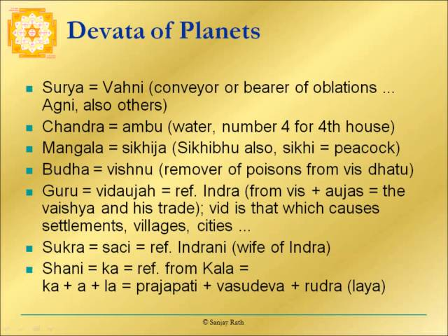Devata of planets N02s12 Pt .Sanjay Rath