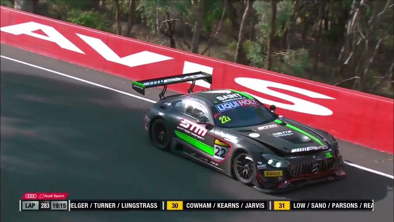 Shane van gisbergen s late race crashes 2017 liqui moly bathurst 12 hour youtube