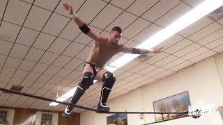 Flip Gordon Gets INSANE Air On One-Foot Springboard Somersault Dive | Beyond Wrestling