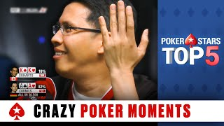 Repeat youtube video Top 5 WTF Moments | PokerStars