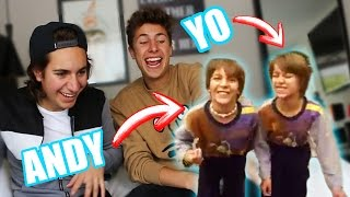 REACCIONANDO A VIDEOS ANTIGUOS! ft. Andy Zurita / Juanpa Zurita
