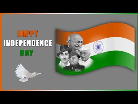 How to create Independence Day Greeting Card in Photoshop ( in Tamil with ESubs )
