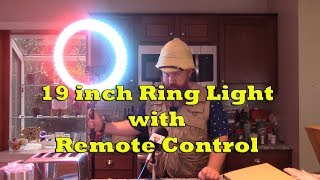 19 Inch Ring Light with Remote Control Product Demo