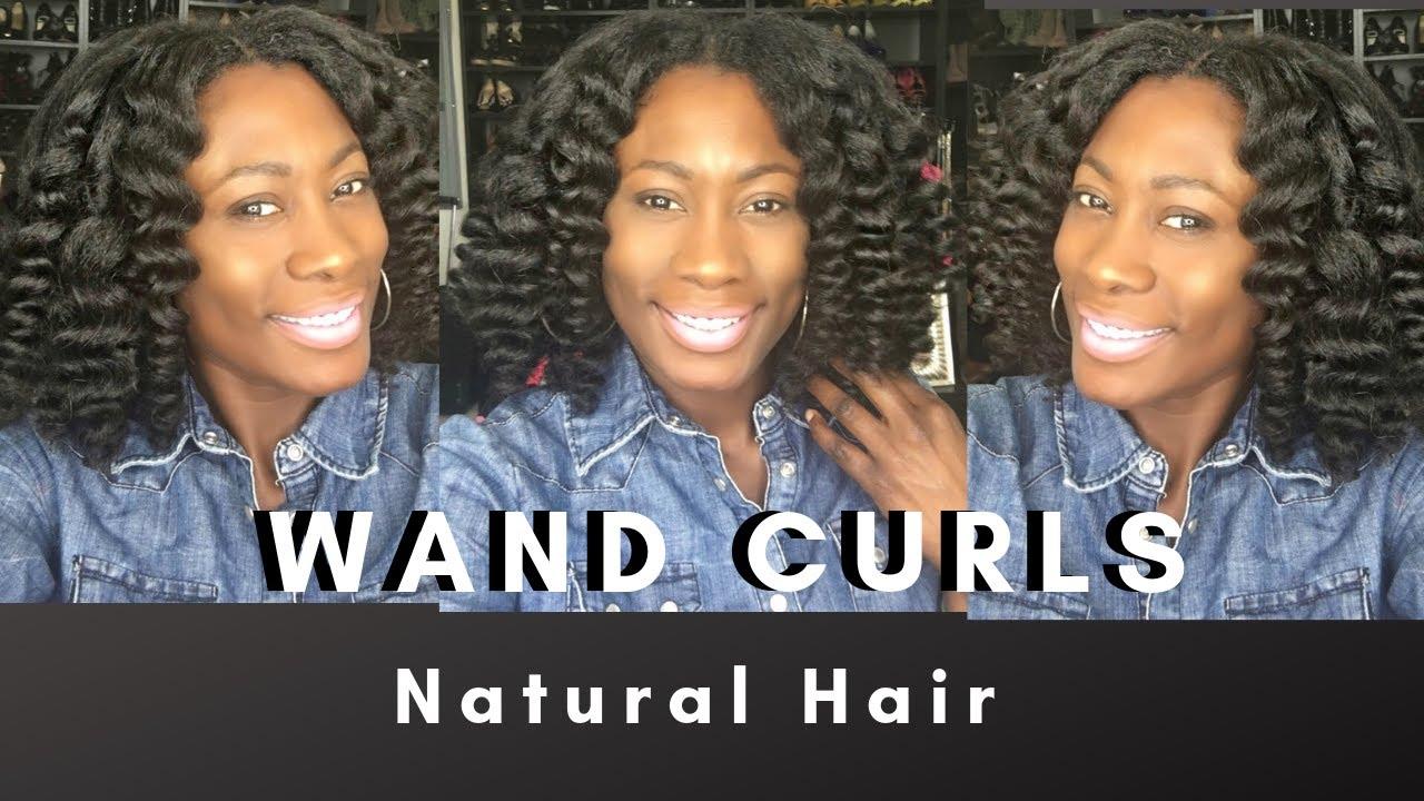 Wand Curls on Natural Hair   Type 4 Hair
