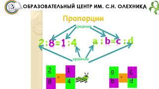"Видеоурок по математике 6 класс ""Пропорции"""
