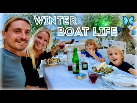 Ep20 - Our Winter BOAT LIFE on the Greek Island of Leros