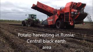 APH Group Dewulf RS2060 harvesting in heavy conditions(The Dewulf offset trailed potato harvester was on the 1st of October the only machine which was able to supply Pepsico chips factory in Kashira, Moscow region, ..., 2013-10-18T10:00:01.000Z)