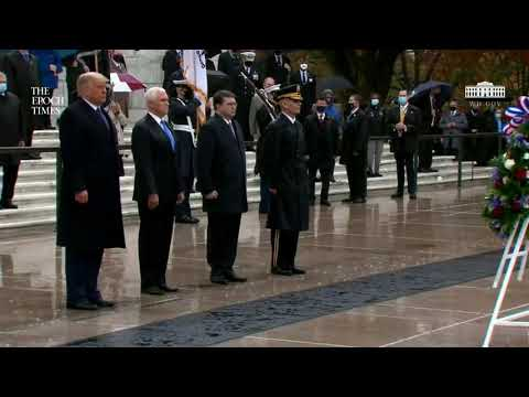 LIVE: Trump and Melania participate in a National Veterans Day Observance (Nov. 11) | Epoch Times