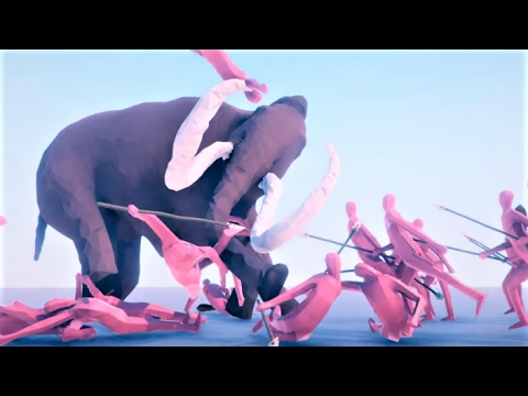 TABS Whooly Mammoth & Revenge of the POACHERS! Totally Accurate Battle Simulator Gameplay (TABS)