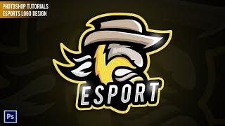 How to Make eSports Logo with Photoshop | Mascot Gaming Logo