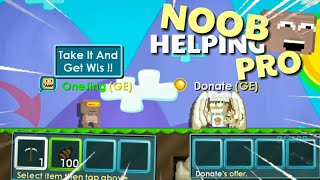 NOOB HELPING PRO LOL !! | Growtopia Funny
