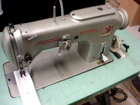 PFAFF 40 ZigZag Straight Stitch Industrial Sewing Machine YouTube Magnificent Industrial Zigzag Sewing Machine