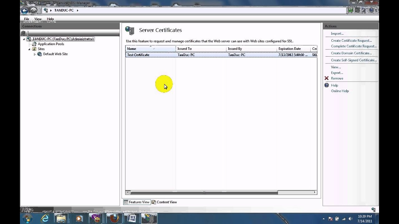 How to set up ssl on iis 7 youtube how to set up ssl on iis 7 xflitez Gallery