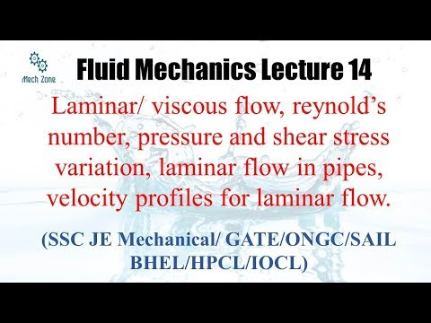 Fluid Mechanics : lecture 14 for GATE, SSC JE, ESE and PSU