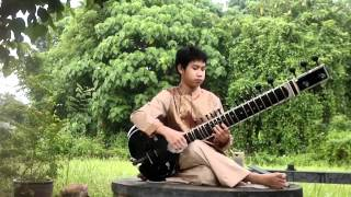 Adele - Rolling in the Deep - Sitar cover (by:Glai Korchid)