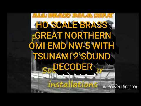 HO Brass Overland Imports Great Northern NW-5 with Tsunami 2 DCC Sound