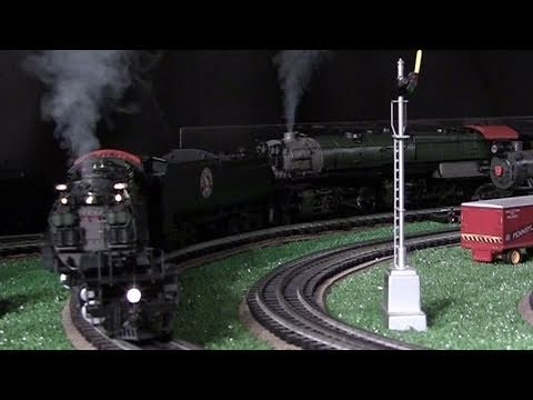 MTH Premier GN Z-6 & R-2 O-Gauge Steam Locomotives Double-Headed in True HD 1080p