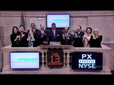 Praxair Celebrates 20th-year Listing Anniversary