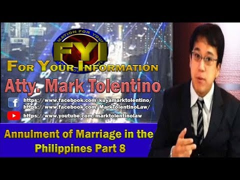 annulment of marriage in the Philippines video 8