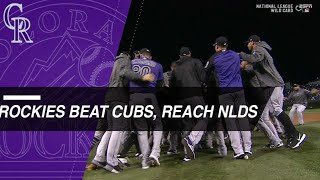 Rockies beat Cubs in Wild Card, advance to NLDS