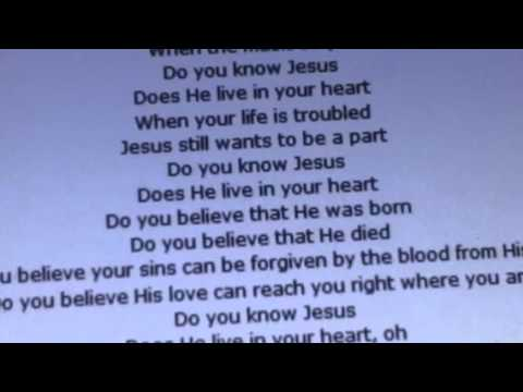 Do you know Jesus choir lyrics