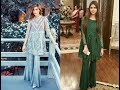 Short Frowks with Bell Bottom Trousers - Trending Pakistani Fashion