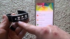 Samsung Gear Fit Tutorial