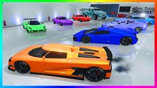 MrBossFTW Ultimate GTA Online Garage Tour! - 3 Full Garages W/ Millions of Dollars in Cars! (GTA 5)