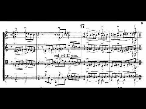 Igor Stravinsky - Concertino for String Quartet (1920) [Score-Video]