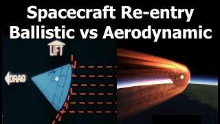 Ballistic Reentry vs Aerodynamic Reentry