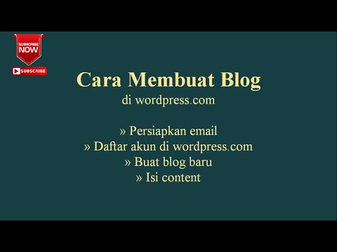 Cara Membuat Blog atau Website di wordpress.com
