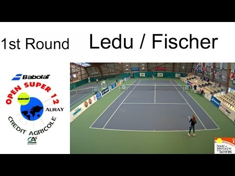 Victory of Fischer (GBR) over Ledu (FRA) 6/2-6/3- Open Super 12 Auray Tennis- Girls single 1st Round