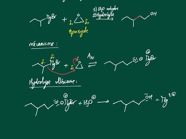 Action d'un organomagnésien sur un époxyde
