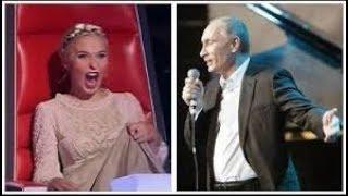 путин поет и выбирает судей на шоу голос! ржачь смотрть всем!под столом!