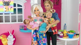 Pregnant Again Barbie Andamp Ken Have New Twin Babies Welcome Home Party From Hospital With Sisters