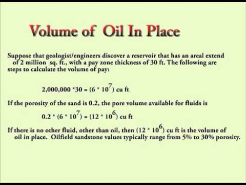 Calculate Oil in Place