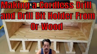 How To Make Cordless Drill and Drill Bit Holder From PVC Pipe or Wood