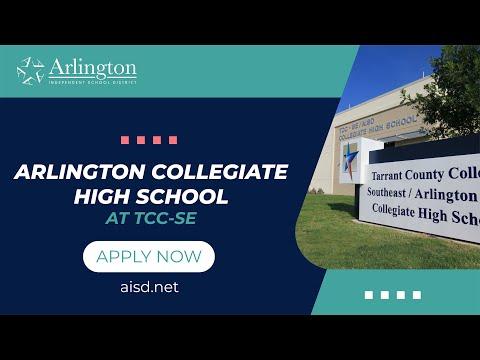 Arlington ISD: Arlington Collegiate High School - Apply Now