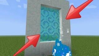 Minecraft kar portal yapımı!