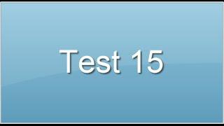 Test 15. Intelligence logico-mathématique