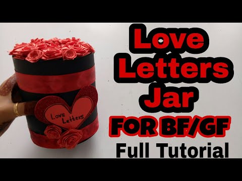 Tutorial Of Love Letters(Love Letters Jar) || Love Letters Jar||Burned Love Letters Inside Jar.
