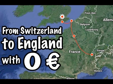 How to Travel from Switzerland to London Without any Money