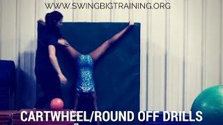 Cartwheel and round off drills