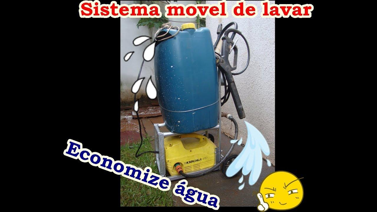 Sistema móvel de lavar Calçada, Carro etc Reservatório + lavadora ( DiY )