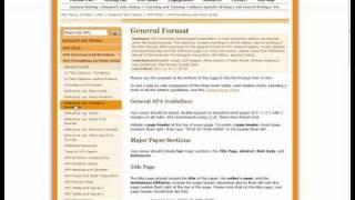 APA Formatting -