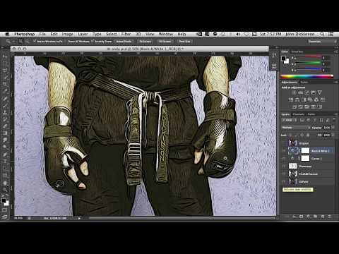 Create A Woodblock Print Style In Photoshop