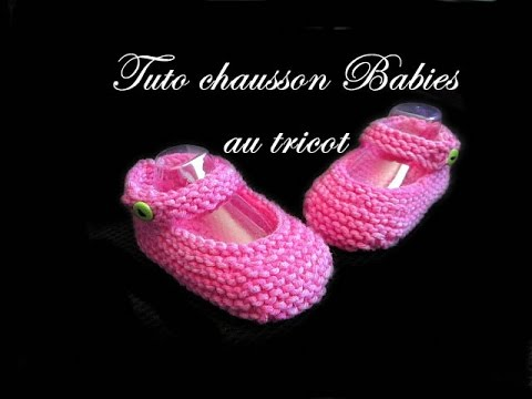 tuto tricot chausson bebe ballerine babies au tricot facile youtube. Black Bedroom Furniture Sets. Home Design Ideas